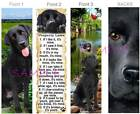 3 lot-LABRADOR RETRIEVER BOOKMARK BLACK Dog LAB Book Mark Card Figurine Ornament