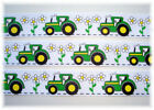 7/8 OH MY BIG GREEN SEXY TRACTOR GROSGRAIN RIBBON 4 HAIRBOW BOW SCRAPBOOKING BOY