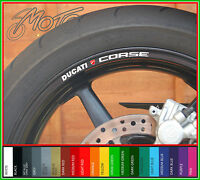 8 x DUCATI CORSE Wheel Rim Decals Stickers - Choice of Colours monster 1100 696