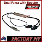Dual Fakra to Standard Pin Adapter Amplified Male Lead Antenna Radio VW