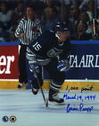 BRIAN PROPP Signed 8x10 Photo #4 Hartford Whalers 1,000 Points Inscribed PROOF