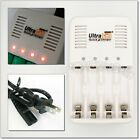 AA AAA Nizn 1.6V 2A 3A Battery Rechargeable Charger US Cable Cord UltraCell Plus