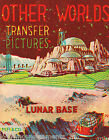 OTHER WORLDS LUNAR BASE VINTAGE MP & Co KIDS TRANSFER STICKERS STORE DISPLAY