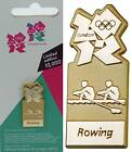 Official London 2012 Olympic paralympic Gold Rowing Pictogram Pin Badge Souvenir