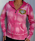 Sinful by Affliction FANCY THAT Woman's Zip Hoodie - Jacket - NEW - S2756 - Pink