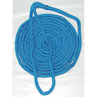 1/2 Inch x 20 Ft Blue Double Braid Nylon Mooring and Docking Line for Boats