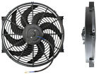 """AEROFLOW 14"""" CURVED BLADE 12V ELECTRIC REVERSABLE COOLING THERMO FAN AF49-1002"""