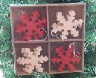 Heaven Sends Scandi / Nordic Style Wooden Snowflakes Christmas Tree Decorations