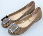 Women Suede Flat Heel Flats Closed-toes With Buckle Trim Shoes Size 7-9.5