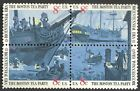 USA - MNH Block of 4 Stamps -8c Boston Tea Party