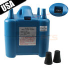 Two Nozzles Electric Air Pump Balloon Inflator for Air Bed Compression Bag New