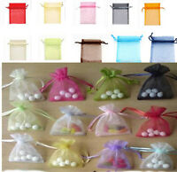 Various Colour Luxury Organza Wedding Favor Xmas Gift Bags Jewellery Pouch 7x9cm