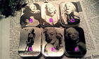 1 Set of 6 PCS Classic Marilyn Monroe Metallic Mini Rectangle Containing Tin Box