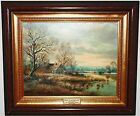 ORIGINAL HORST (H) BAUMGART OIL PAINTING W/CERTIFICATE OF AUTHENTICITY