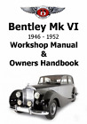 Service Workshop Manual and Owners Handbook on CD for BENTLEY Mk VI 46-52