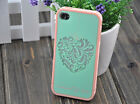 New Fashion Fancy Cute Green Heart Hard Back Cover Case Skin for iPhone 5 5G 5S