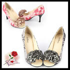 Women Shoes Peep Toe Pump High Heels Party/Wdding/ Evening Size6-7.5