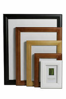Traditional Wooden Photo Picture Frames Black, White, Brown, Pine Stand or Hang
