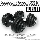 20kg Dumbbell/Dumbbell Set, Rubber Coated, Adjustable Weight Home Gym