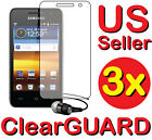 "3x Samsung Galaxy S Player 3.6 3.6"" Wifi LCD Screen Protector Guard Shield Cover"