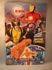 NICKTOONS IRON MAN ARMORED ADV. WOLVERINE FANTASTIC FOUR POSTER EXCLUSIVE SDCC