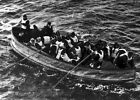 New 5x7 Photo: Survivors of the RMS TITANIC Sinking in Collapsible Lifeboat