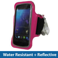 Pink Sports Armband for Samsung Galaxy Nexus i9250 Android Gym Running Jogging