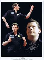 JAMES WADE in person signed 12x16 - DARTS montage
