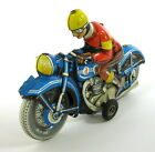 VINTAGE TIPPCO TIPP&CO WESTERN GERMAN TIN FRICTION MOTORCYCLE TOY GERMANY SEE