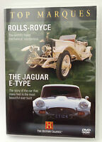New ROLLS ROYCE + JAGUAR E TYPE Top Marques DVD (History Channel)