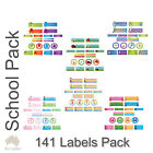 personalised school pack name labels stickers