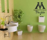 Clever funny wall art bathroom bedroom decor Ministry Of Magic wall stickers UK