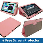 Pink Leather Case for Samsung Galaxy Tab 2 10.1 P5100 P5110 Wifi 3G Cover