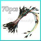 Solderless Breadboard Jumper Cable For Arduino-70pcs Mixed Colour Coded Wire Kit