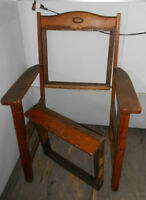 Vintage Early  OAK Parlor Chair For Parts or Can Be REUPHOLSTERED