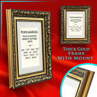 Gold Ornate Antique Style Picture Photo FRAMES with MOUNTS - Various Sizes