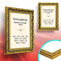 Gold Ornate Antique Style Picture Photo Frames New