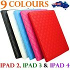 APPLE LUXURY LEATHER IPAD 2 3 4 CASE COVER BLACK WHITE GREEN