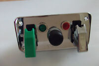 IGNITION  SWITCH  PANEL/ PUSH  BUTTON START GREEN & CHROME  FLIP COVERS