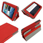 Red Leather Case for Samsung Galaxy Tab 2 7.0 P3100 P3110 Wifi 3G Cover Holder