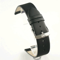 Di Modell Nappa Wapro Black Watch Strap: Waterproof: all sizes 6mm -  24mm (P5)