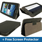Black Leather Case for Samsung Galaxy Tab 2 7.0 P3100 P3110 Wifi 3G Cover