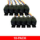 10 PACK 12 VOLT 30/40 AMP BOSCH/TYCO TYPE SPDT AUTOMOTIVE RELAY+HARNESS SOCKETS