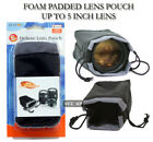 """5"""" PADDED LENS POUCH CASE INCH LENS POUCH"""