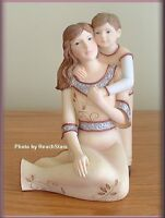 """MOTHER AND SON ANGEL FIGURINE BY PAVILION ELEMENTS 5.5"""" FREE U. S. SHIPPING"""