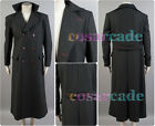 Sherlock Holmes Wool Trench Coat Jacket Cape Robe Cosplay Costume Custom Made