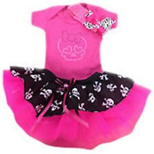 PINK SPARKLE BABY GROW TUTU SKIRT SET HEADBAND PIRATE SKULLS MONSTER TODDLER FLO