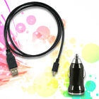 Micro USB Data Cable + Car Charger for T-Mobile myTouch 4G Slide HTC 7 Pro One S