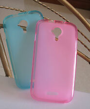 2x Housse étui Coque GEL Silicone TPU for Wiko Cink Five pink+blue
