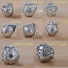 Wholesale C925 Sterling Silver Harmony Ball Angel Caller Only Cage 20mm  22mm